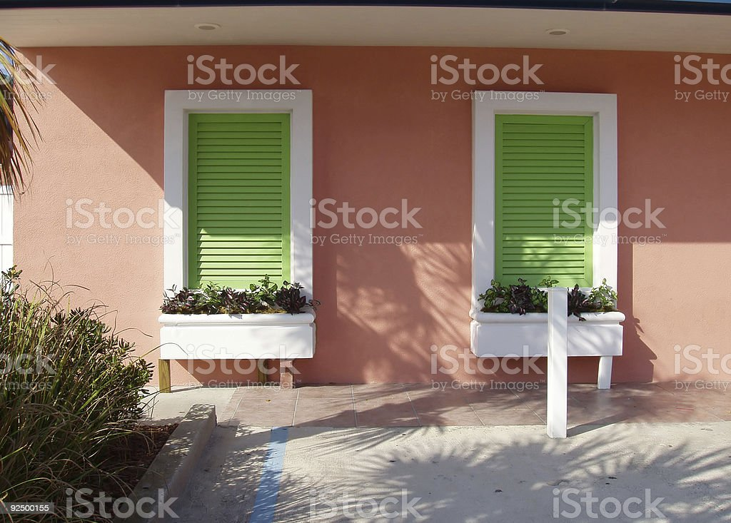 Colorful wall & shutters - Real Estate royalty-free stock photo