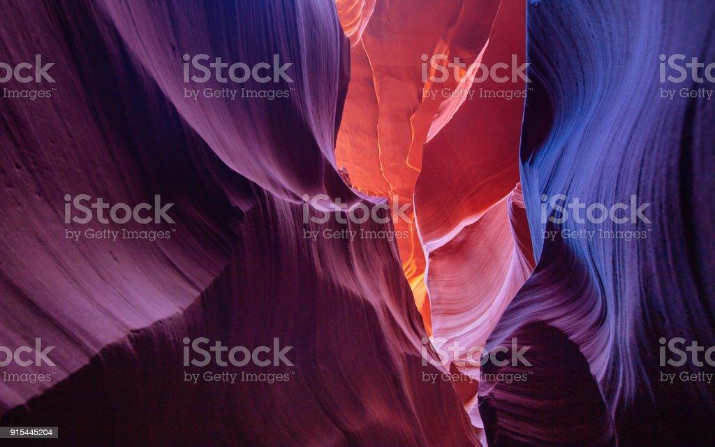 Colorful Walls of Sandstone at Antelope Canyon stock photo