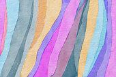 Colorful watercolor animal skin pattern