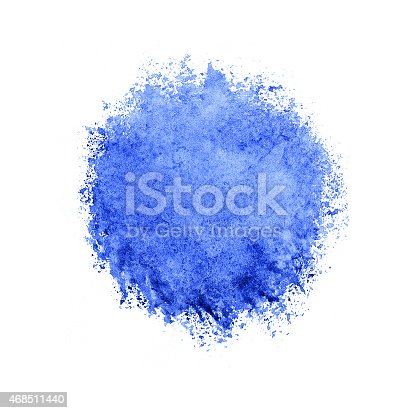 istock Colorful watercolor circle, blue drop on white background. 468511440