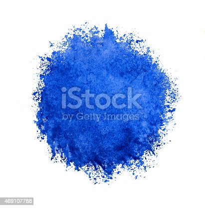 istock Colorful watercolor circle, blue drop on white background. 469107788