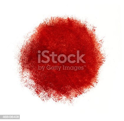 istock Colorful watercolor circle, red drop on white background. 468496408