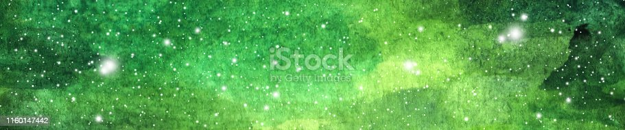 532378051 istock photo Colorful watercolor galaxy or night sky with stars. 1160147442