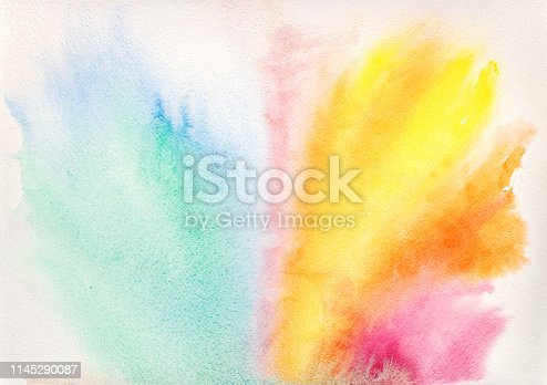istock colorful watercolor wash and spots 1145290087