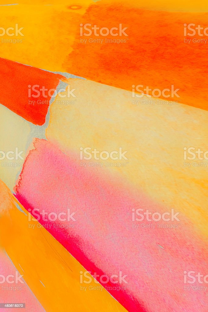 colorful watercolors - geometric background - graphic design stock photo