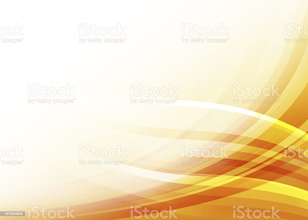 A colorful wave of yellow and orange abstract background stock photo