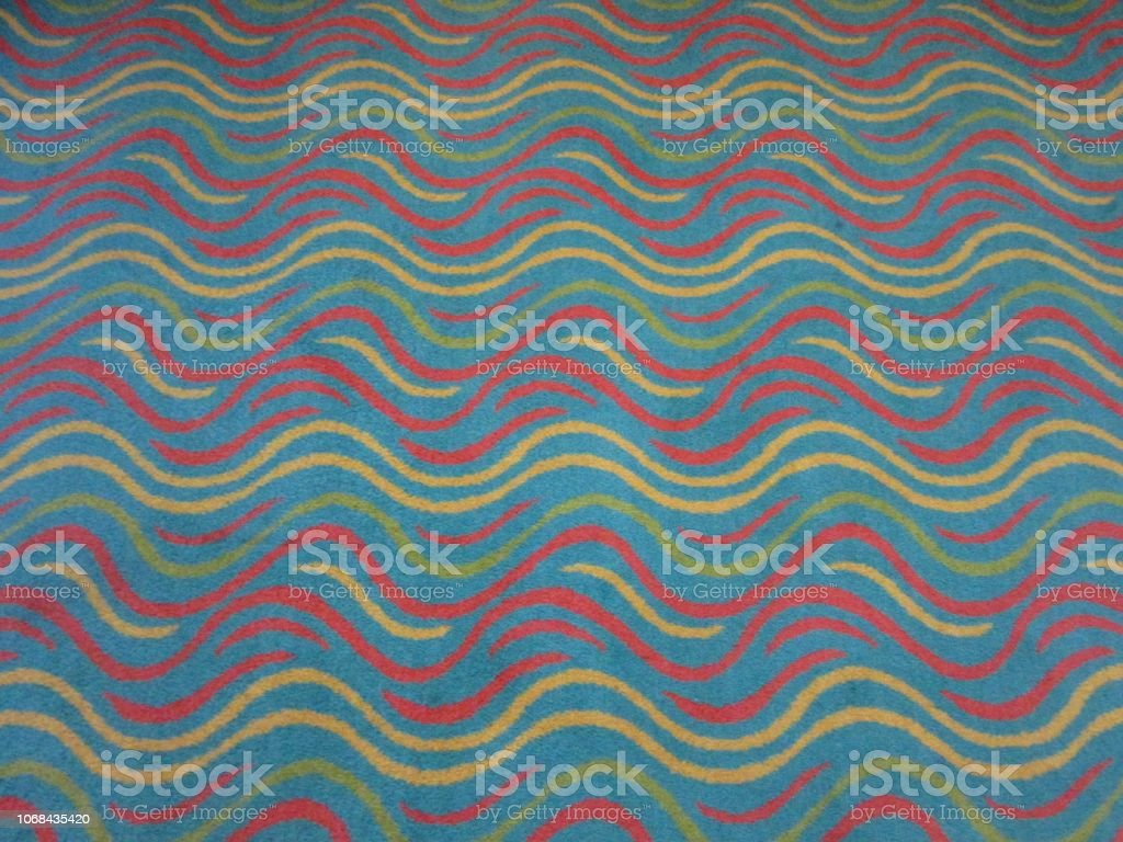 Colorful Waves on a Rug stock photo