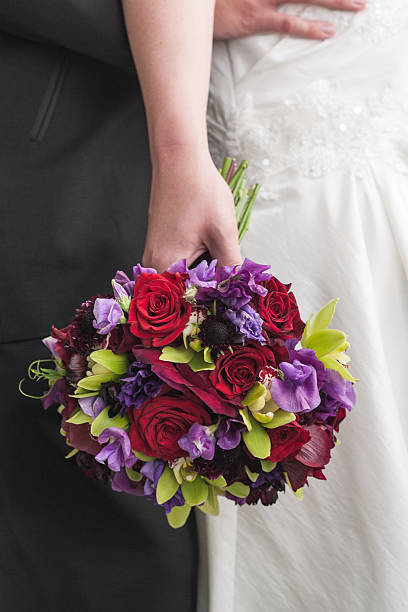 Colorful Wedding Bouquet stock photo