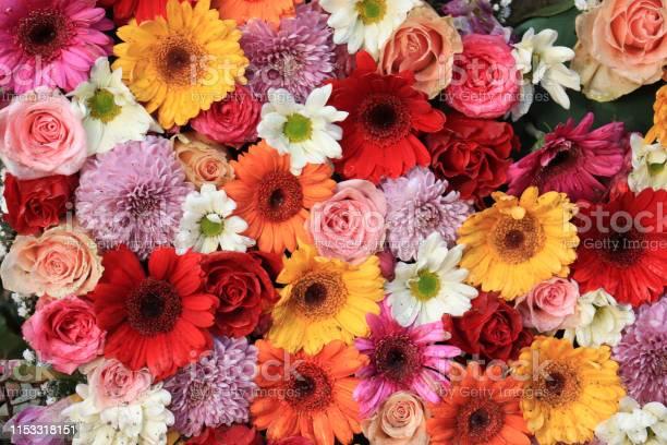 Photo of Colorful wedding flower arrangement