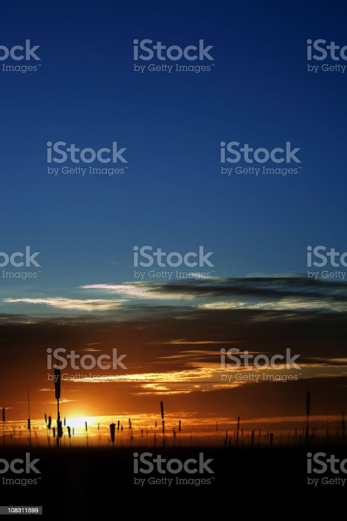 XXL colorful wetlands sunset royalty-free stock photo