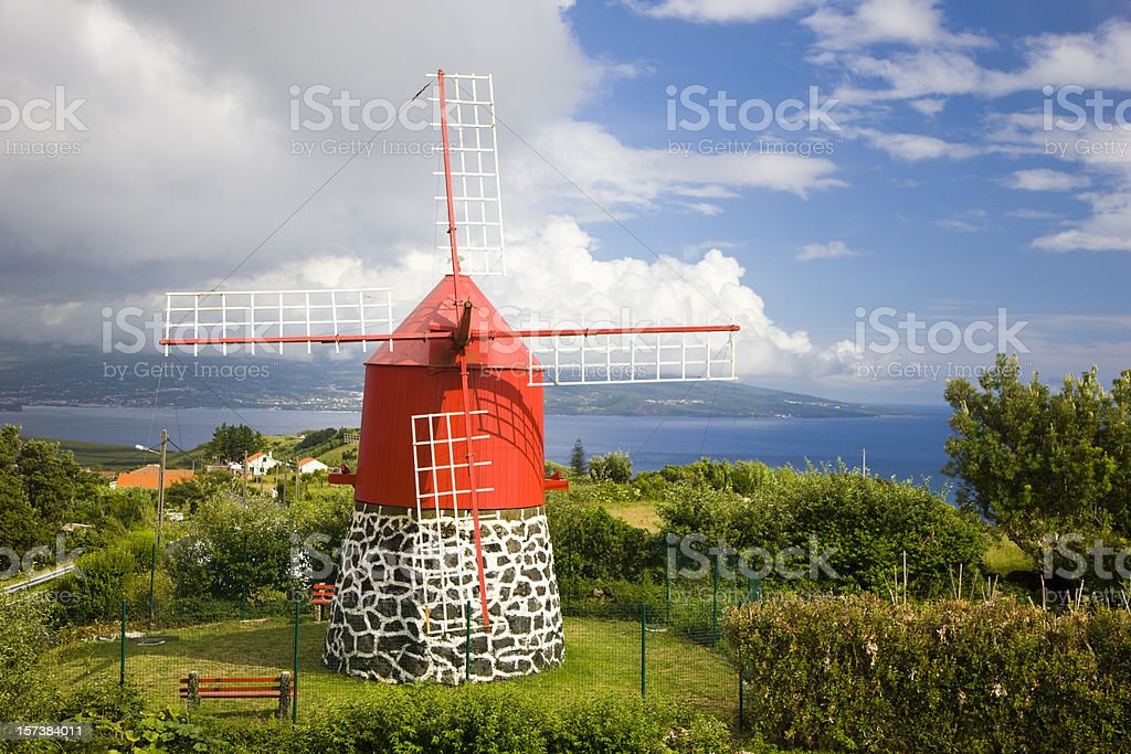 Colorful Windmill stock photo
