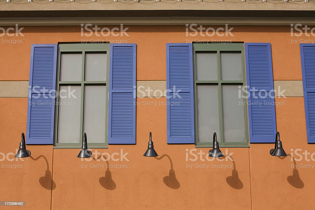 Colorful Window Shutters royalty-free stock photo