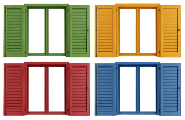 Colorato windows - foto stock