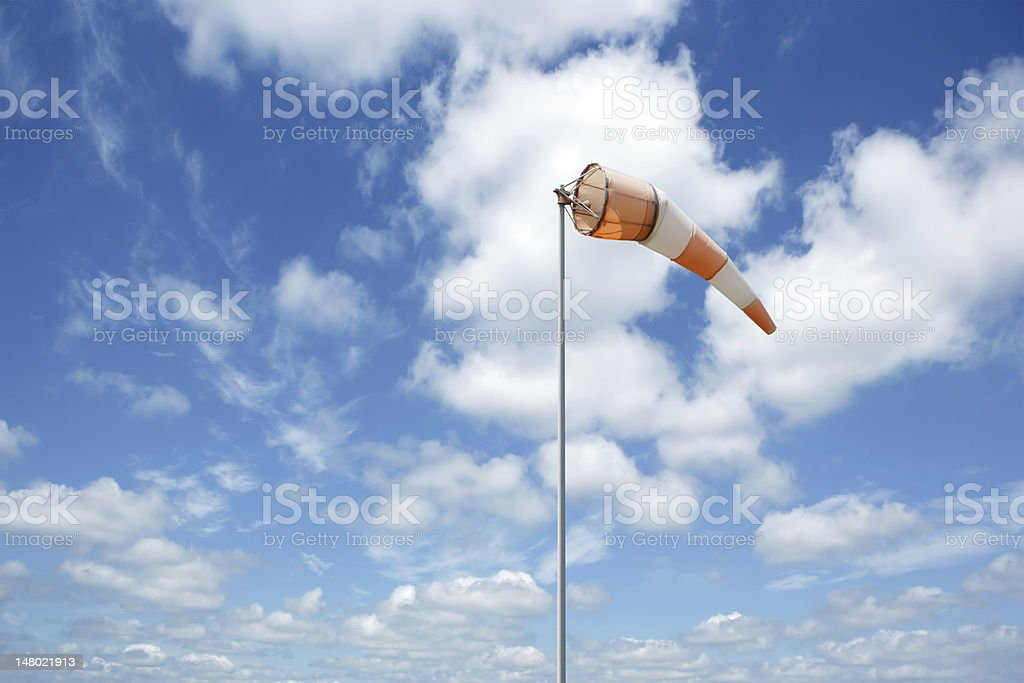 XXL colorful windsock stock photo
