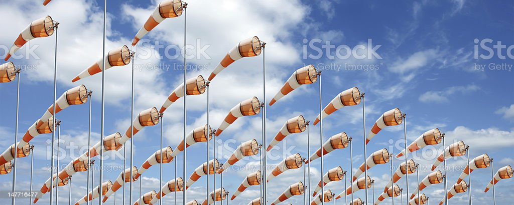 XXXL windsocks colorato - foto stock
