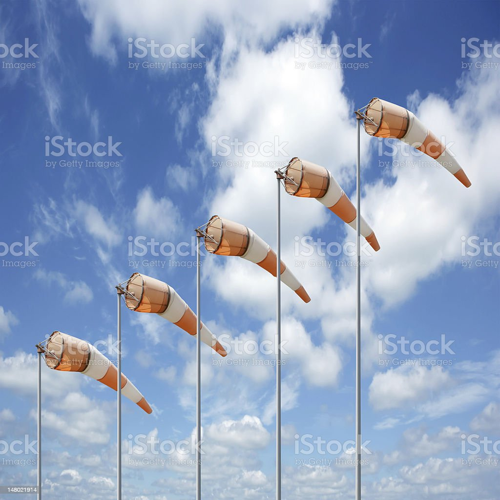 XXXL colorful windsocks stock photo