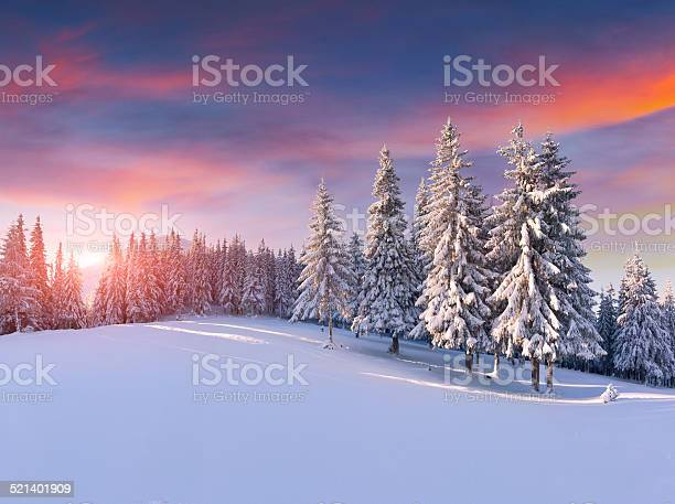 Colorful winter sunrise in the mountains picture id521401909?b=1&k=6&m=521401909&s=612x612&h=tjcylo8aaqou6dngjbxa3arxutb75r0jaq ejm4su1w=