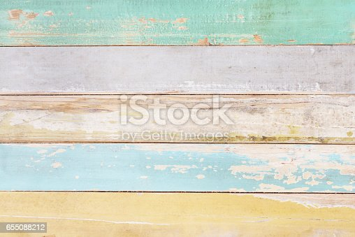 istock Colorful wood background,Wooden wall texture 655088212