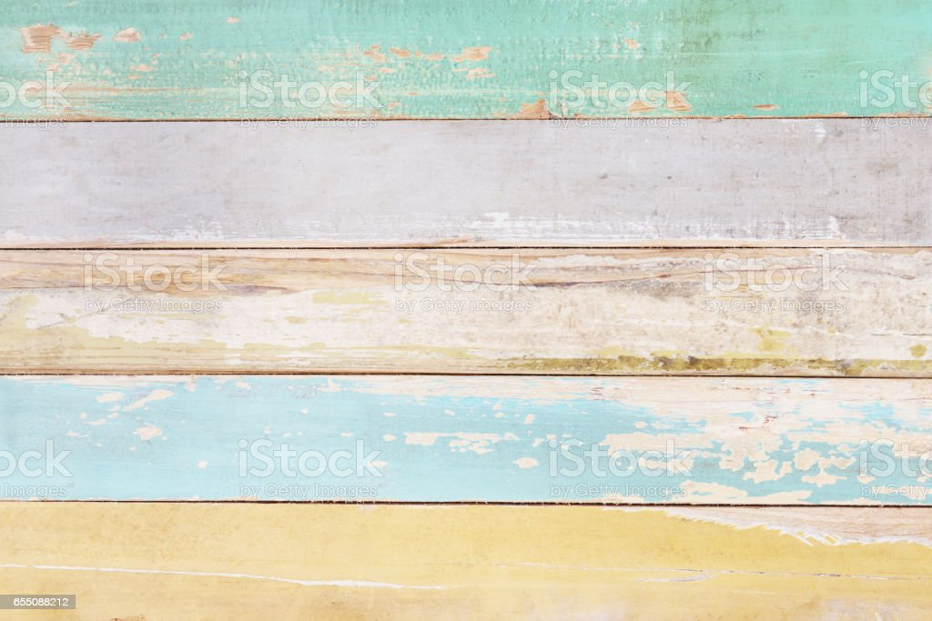 Colorful wood background,Wooden wall texture stock photo