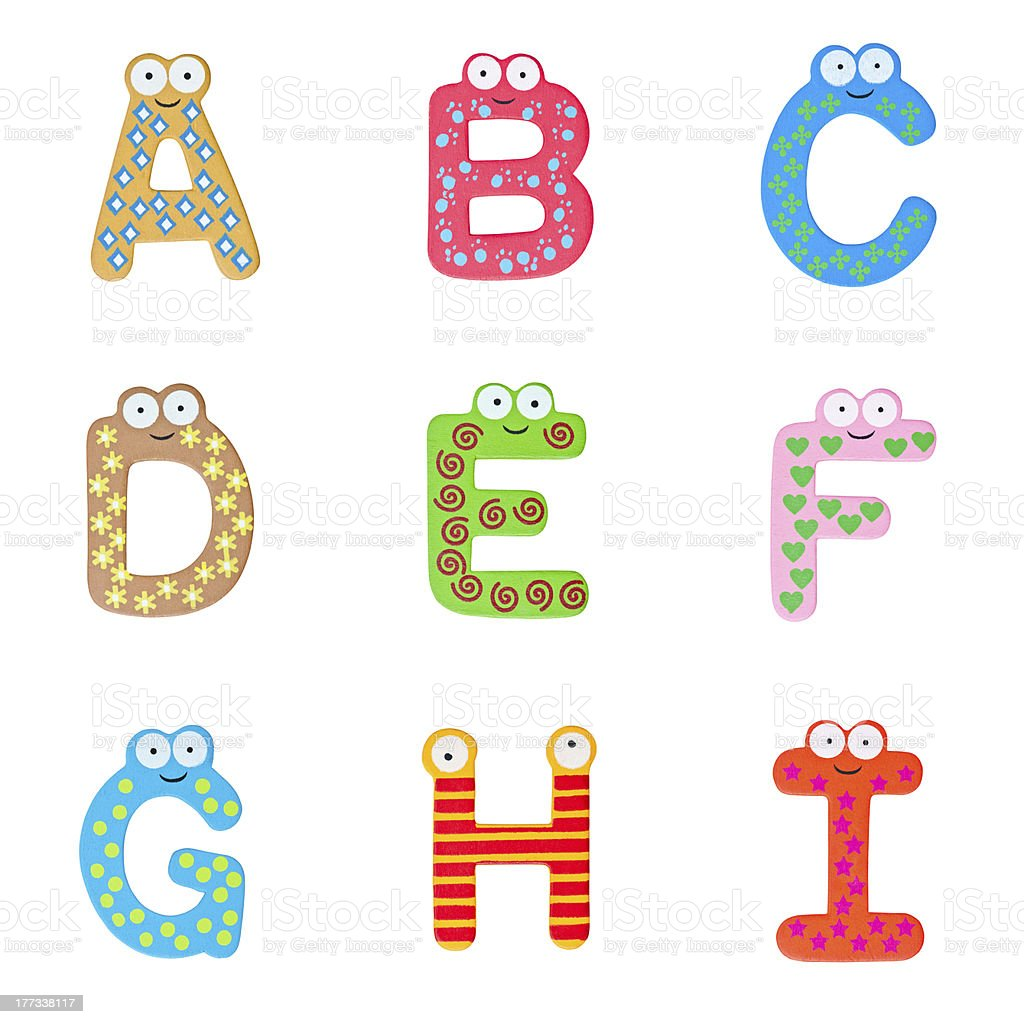 Colorful Wooden Alphabet stock photo
