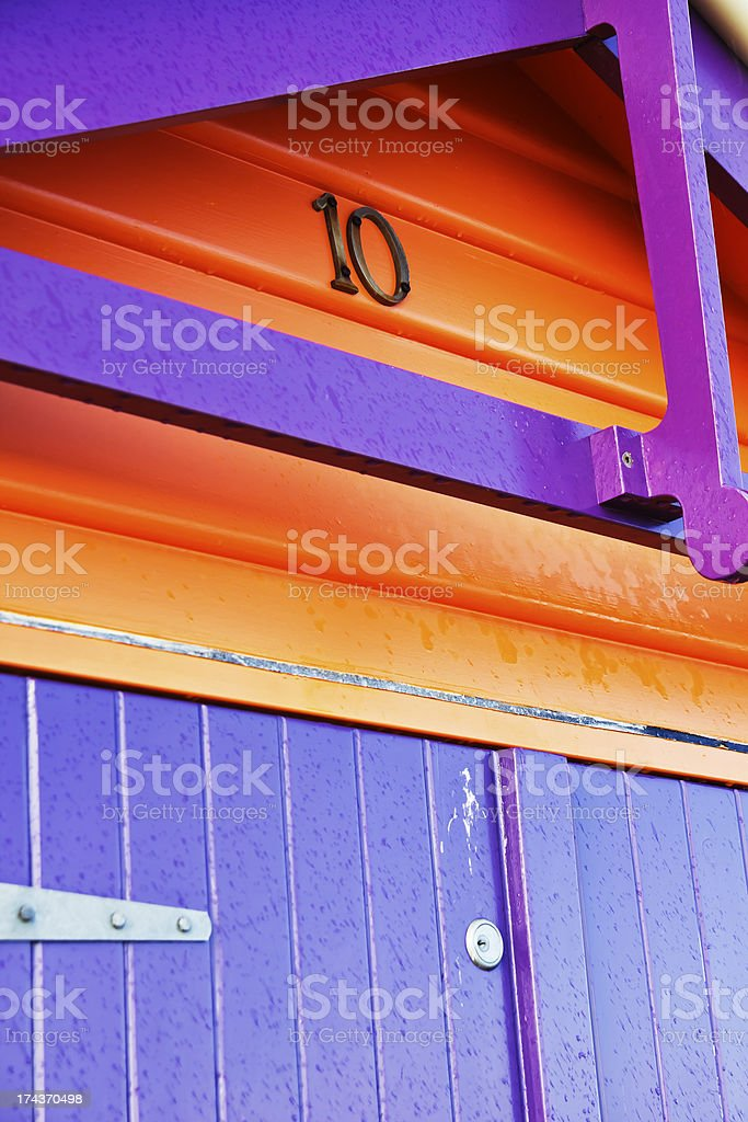 Colorful wooden box royalty-free stock photo