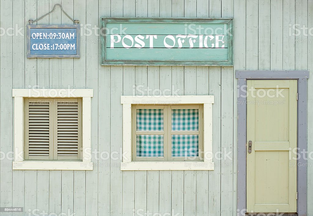 colorful wooden house royalty-free stock photo
