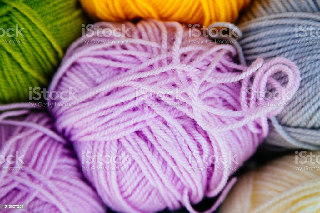 Colorful wool background stock photo