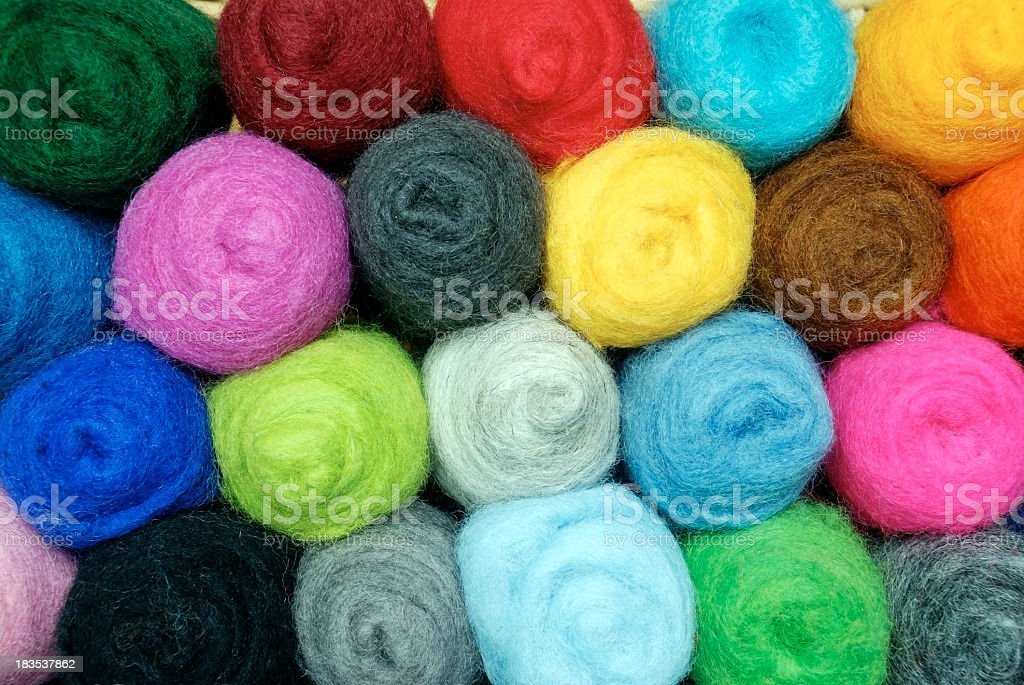 Colorful wool royalty-free stock photo