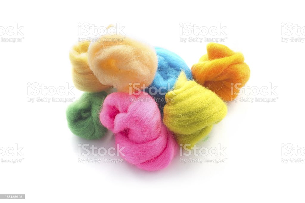 Colorful wool stock photo