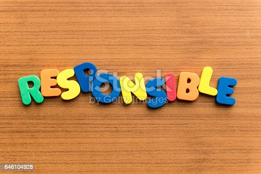 colorful word on the wooden background