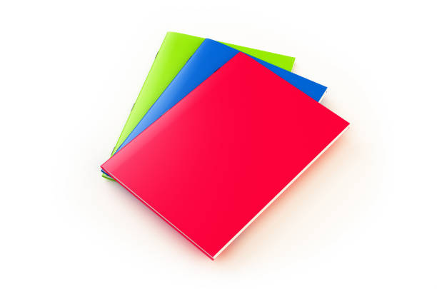 Colorful Work Books Isolated on White Colorful Books Isolated on White: With Clipping PathColorful Work Books Isolated on White: With Clipping Path workbook stock pictures, royalty-free photos & images