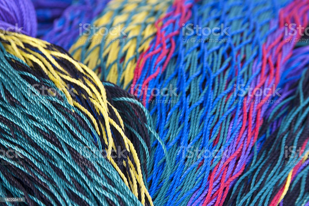 Colorful Woven Hammocks, Background royalty-free stock photo