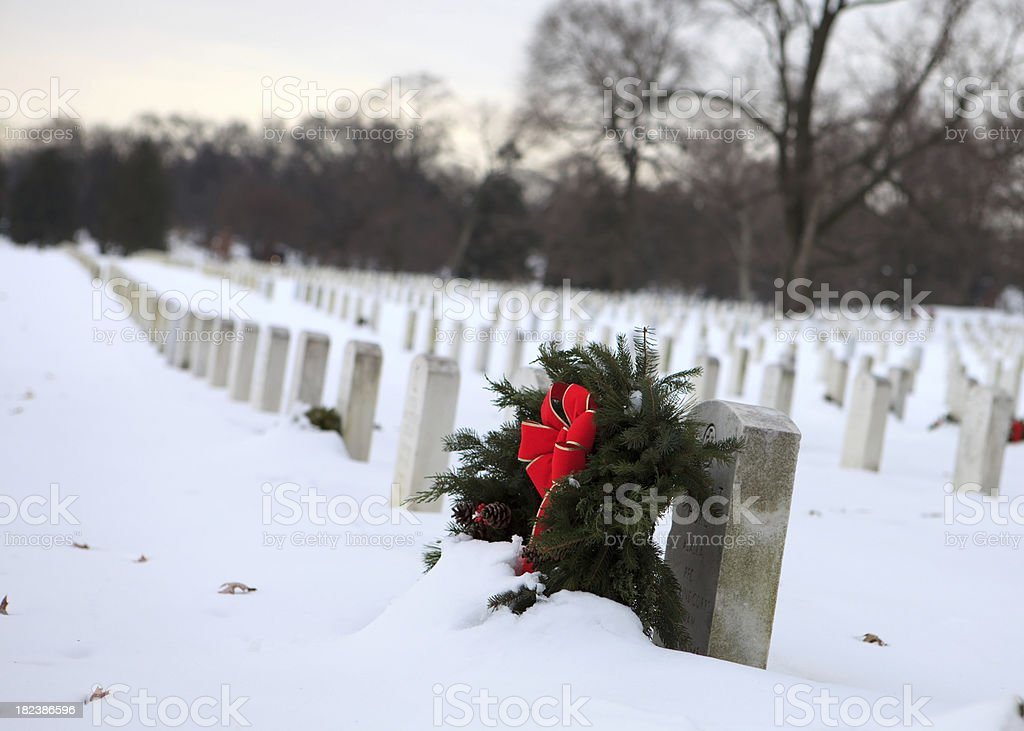 colorful wreath at Arlington National Cemetery royalty-free stock photo