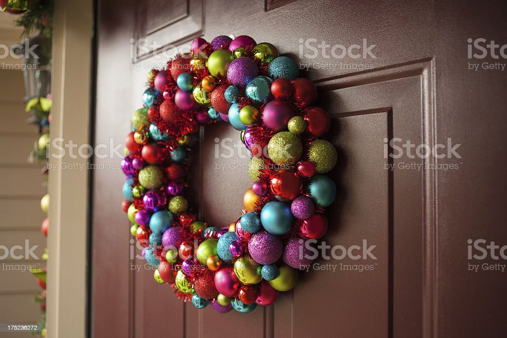 colorful wreath royalty-free stock photo