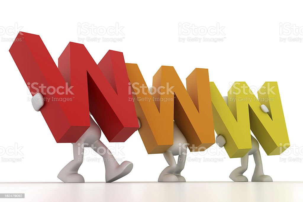 colorful WWW. royalty-free stock photo