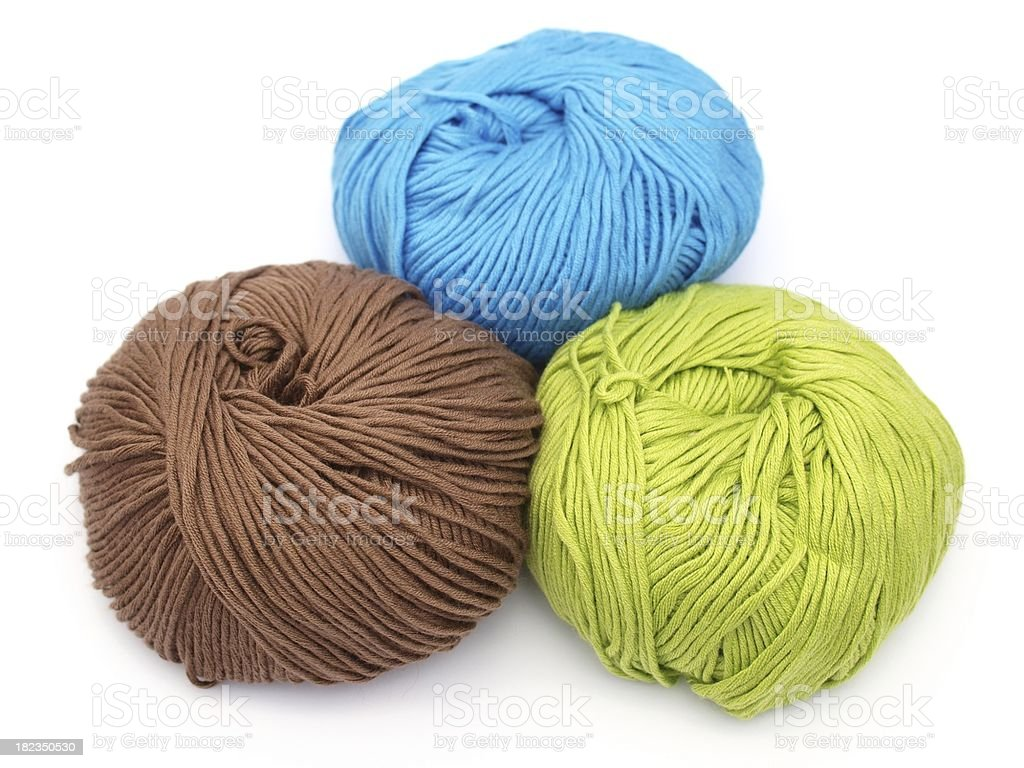 colorful yarn - bamboo-cotton royalty-free stock photo