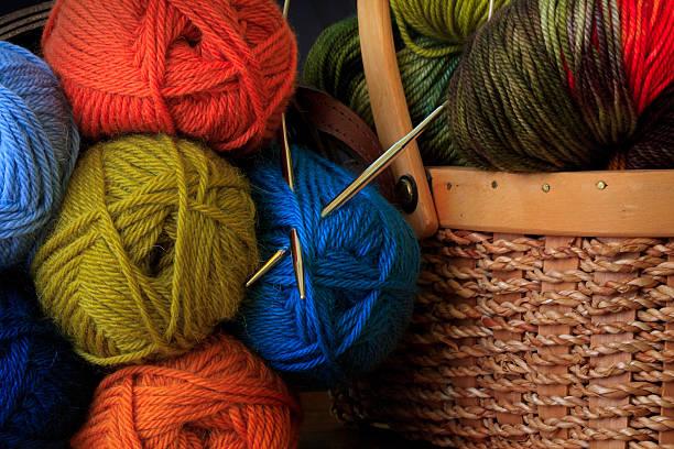 Colorful yarn stock photo