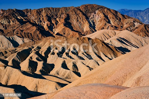 Colorful Zabriskie Point, Death Valley,Mojave Desert, California, USA,Nikon D3x