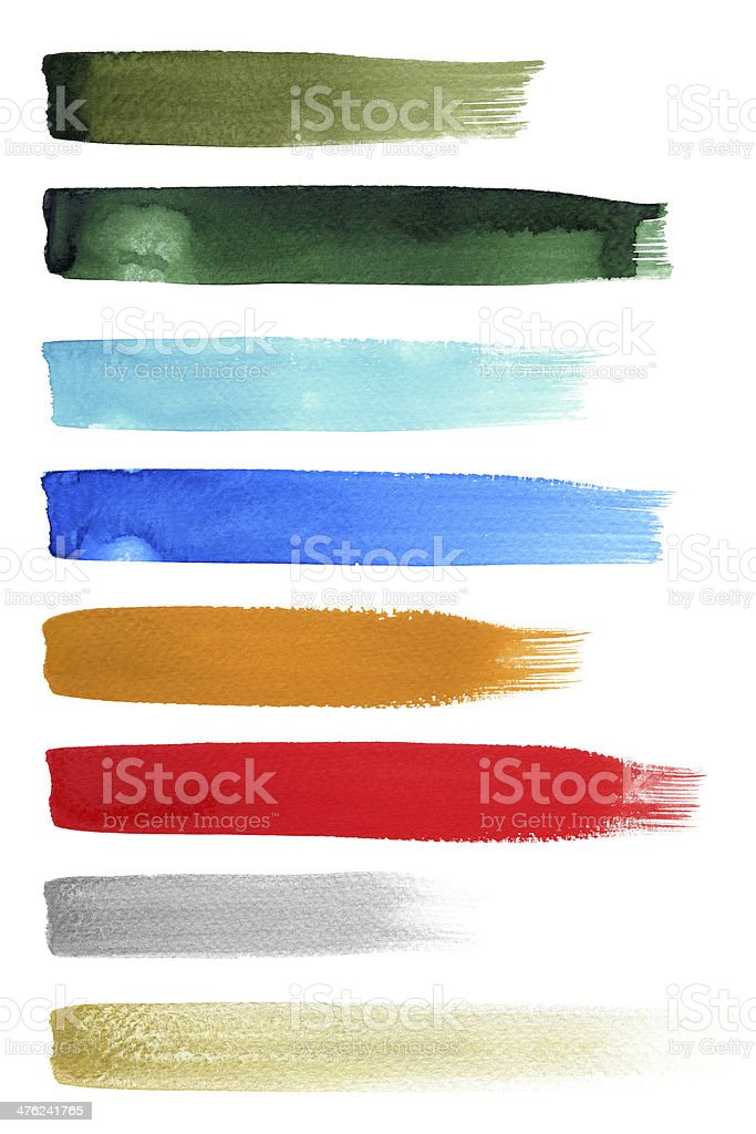 Colorfull Brush Strokes royalty-free stock photo