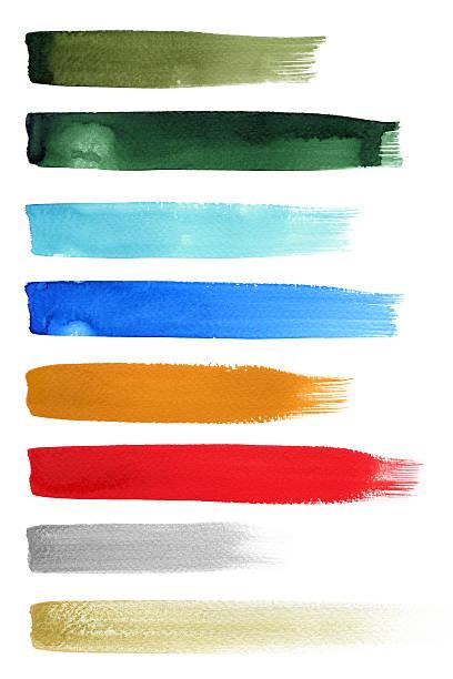 Colorfull Brush Strokes stock photo