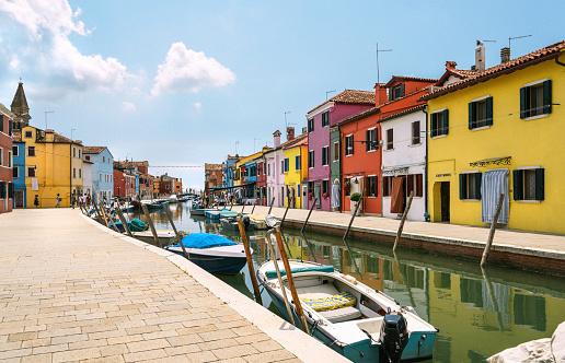 colorfull Burano near Venice