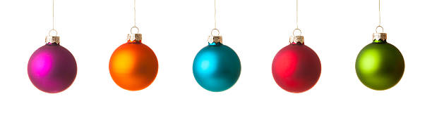 Colorfull Christmas ball, isolated on white stock photo
