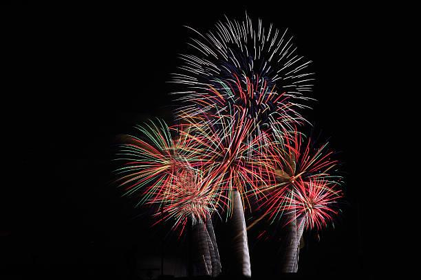 colorfull fireworks stock photo