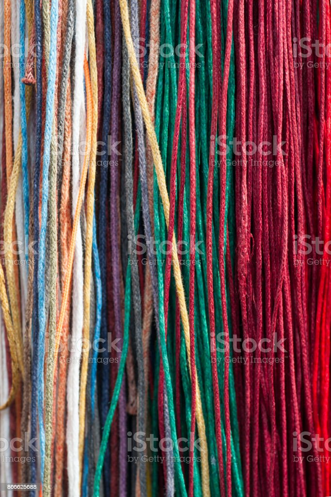 Colorfull laces stock photo