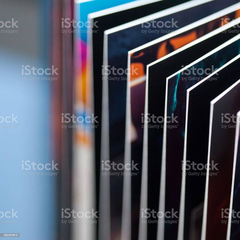 Colorfull printed book pages abstract stock photo