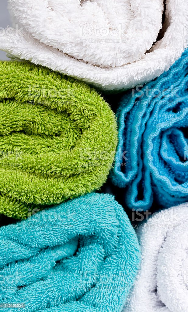 colorfull towels stacked royalty-free stock photo