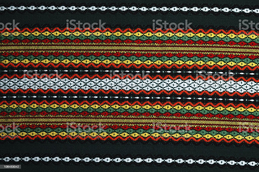 colorfull traditional bulgarian  embroidery royalty-free stock photo