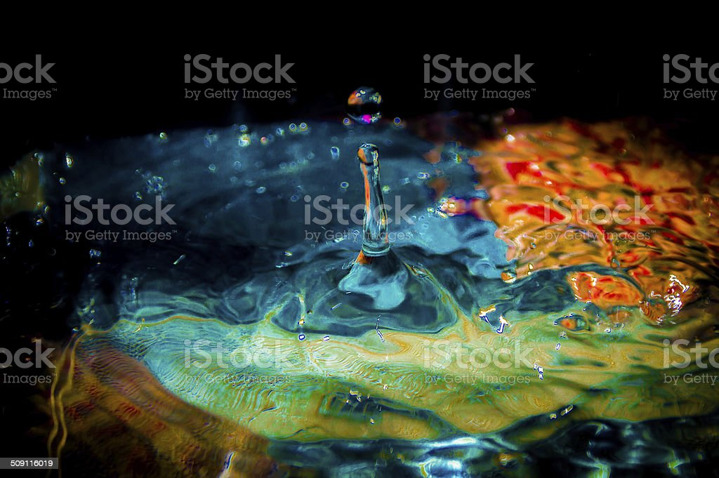 Colorfull Water Droplet stock photo