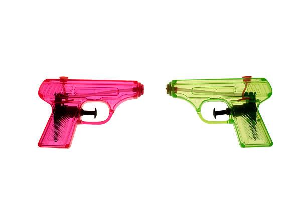 Colorfull waterguns stock photo