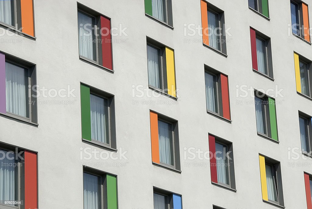 Colorfull windows royalty-free stock photo